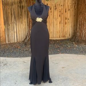 Cache black formal w/brilliant rhinestone accent
